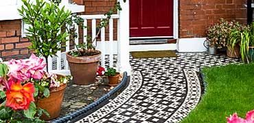 Victorian tiles on pathways