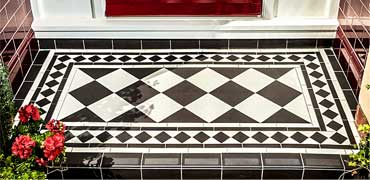 Victorian tiles in porches