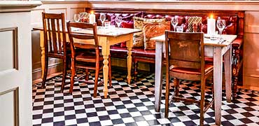 Victorian tiles in public areas