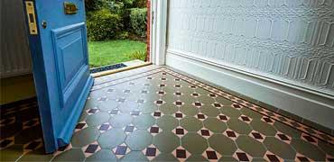 Victorian tiles in vestibules