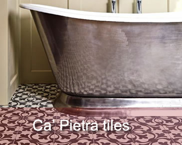 Ca' Pietra natural stone and encaustic tiles for walls and floors
