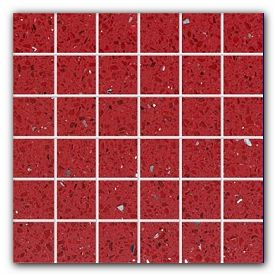 Mosaic quartz tiles