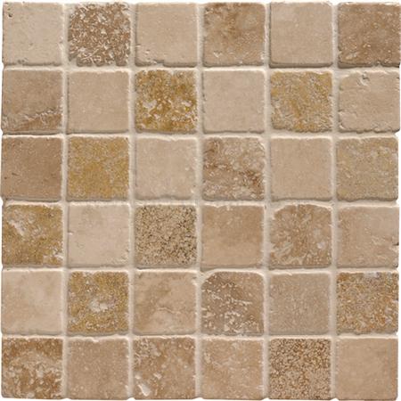 Mixed Travertine 4.8 Venetian Mosaic
