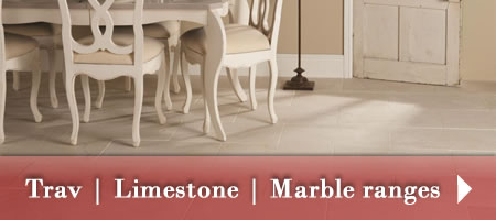 Travertine, Limestone, Marble tile ranges