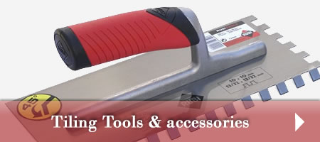 Tools and accesories for tiling