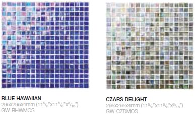 Blue Hawaiian & Czars Delight mosaic