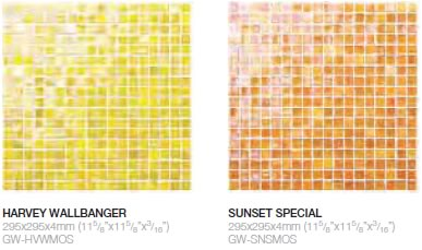 Harvey Wallbanger & Sunset Special glass mosaics