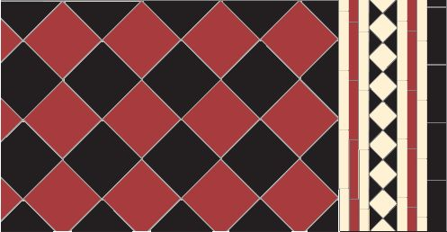 Oxford in red, black colours