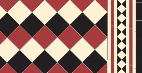 Oxford in red black white with matching Bronte