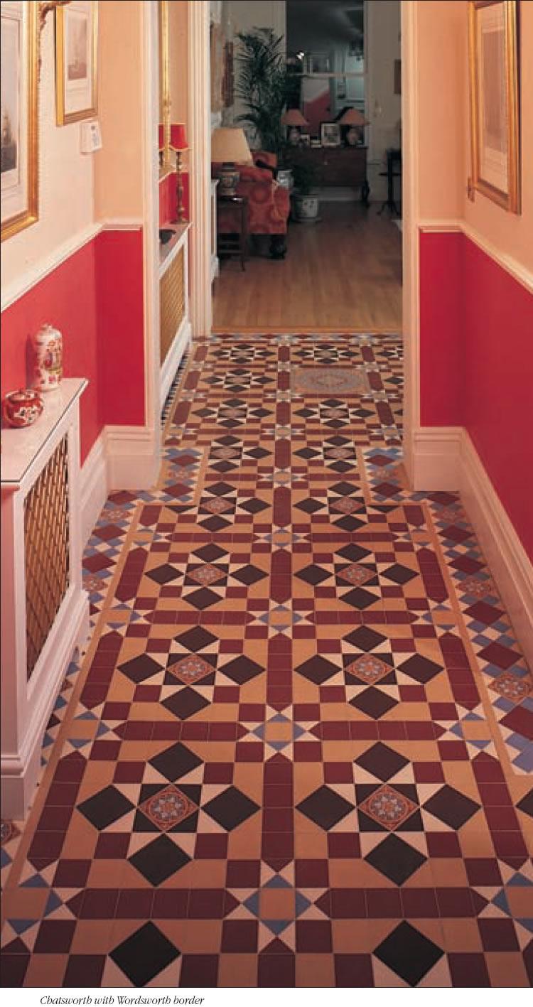 Victorian Hallways Tiles Geometric For Hall Ways