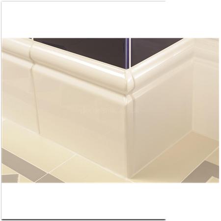 Brilliant White Skirting Left External Corner Gloss Tile