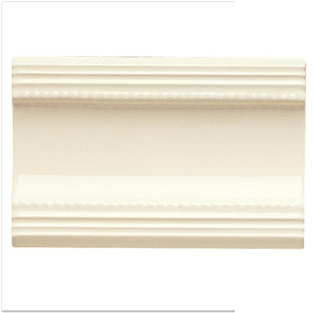 Colonial White Plain Cornice Moulding Gloss Tile 152 X 75