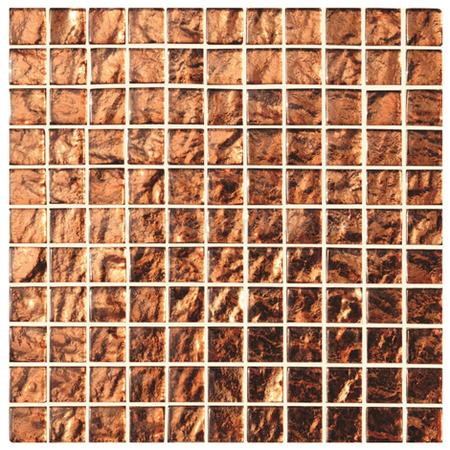 Byzantium Copper Glass Mosaic Gloss Tile 294 X 8 Mm