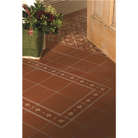 Original Style tiles - Indo Internal Corner Buff and Dublin on Red decorative wall and floor  tile 75 x 75 x 9 mm - 8064V Odyssey