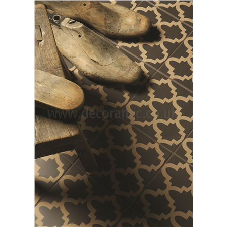 Original Style tiles - Constantinople Buff on Black decorative wall and floor  tile 151 x 151 x 9 mm - 8145V Odyssey