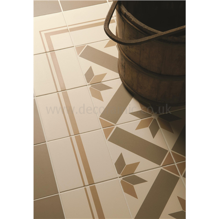 Original Style tiles - Gothic Regency Bath and Old London on White decorative wall and floor  tile 151 x 151 x 9 mm - 8085V Odyssey