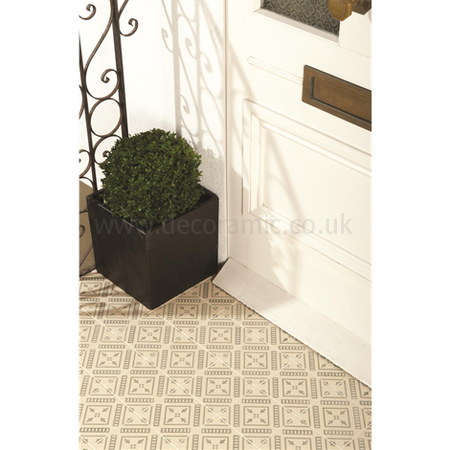 Original Style tiles - Pompeii Dublin on White decorative wall and floor  tile 151 x 151 x 9 mm - 8119V Odyssey