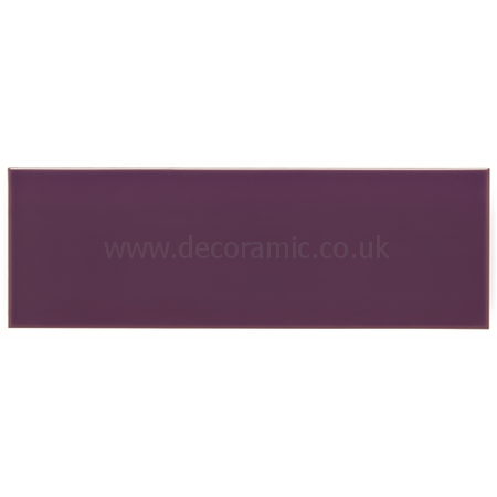 Psychedelic purple large brick gloss tile 300 x 100 x 8 mm - Purple kitchen wall tiles ...